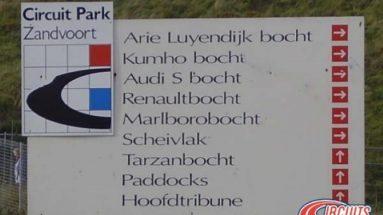 Corner names Zandvoort circuit