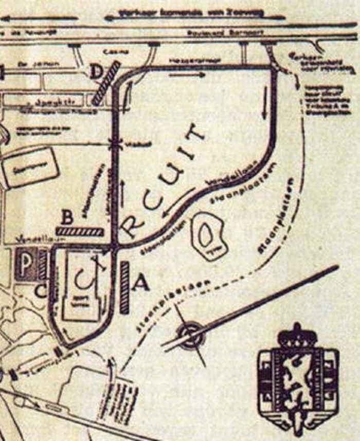 Zandvoort street circuit map