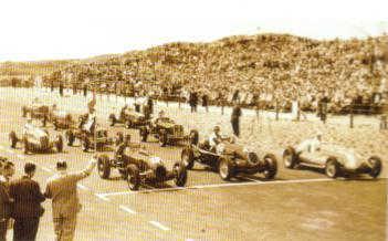 Zandvoort circuit 1948 - Start of the first Grand Prix
