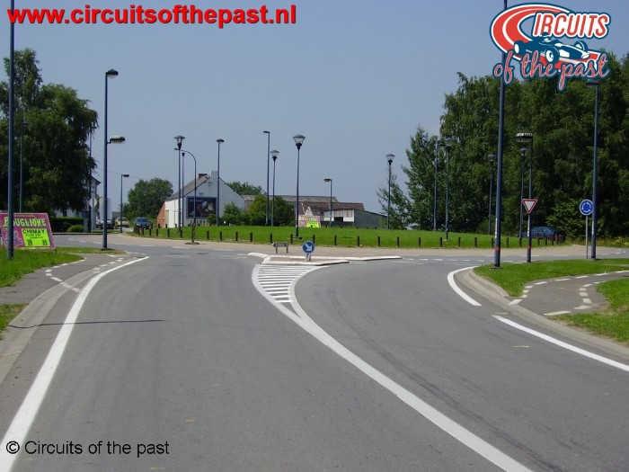 "Chimay Circuit - ""Ligne droite de Salles"" with roundabout"