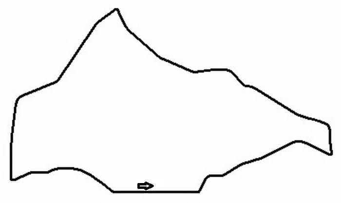 Schleizer Dreieck Circuit map 1923-1988